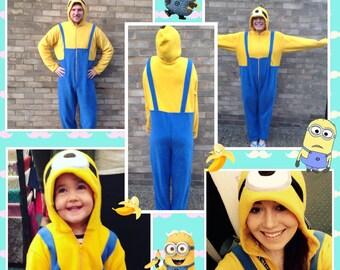 Children's minion onesie age 7-8 up to 11-12yr