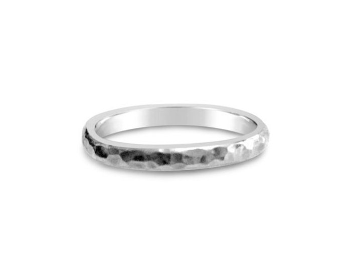 Solid Sterling Silver Textured Ring
