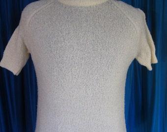 Vintage Pendleton Women's short sleeved sweater - Size 38