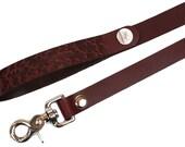 BDSM Leash - Bondage Leash - Slave Leash - Leather Leash - Promenade Leash - RED Leather Leash