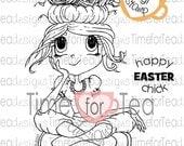 Easter Chick Digital Stamp