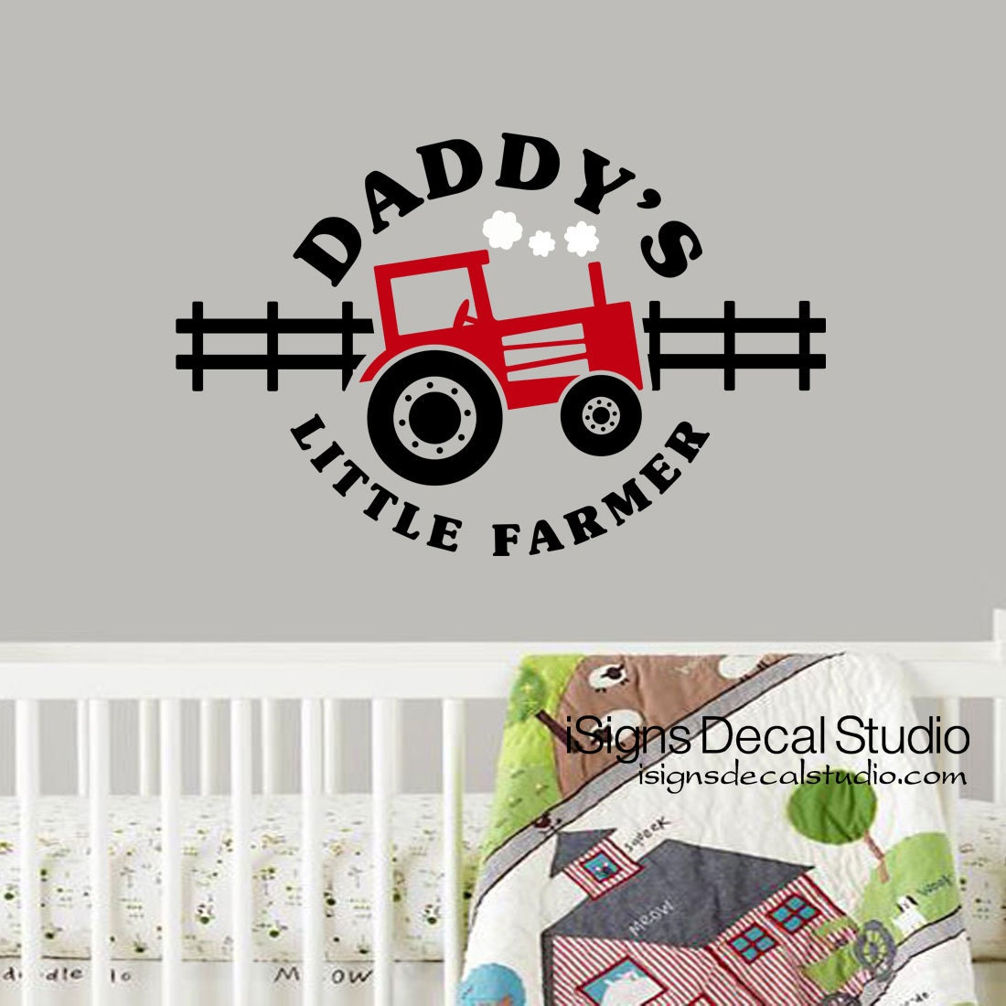 Tractor Wall Decal Farm Vinyl Wall Decals Nursery Farm