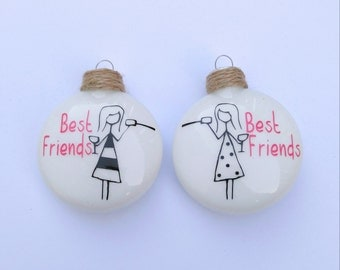 Best Friend Ornaments - set of two