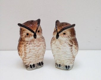 vintage owl mr and mrs salt and pepper shakers