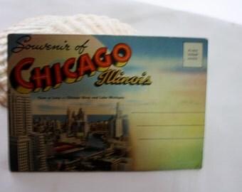 Vintage 1940's Postcard Pack Greetings from Chicago Vintage PostCard