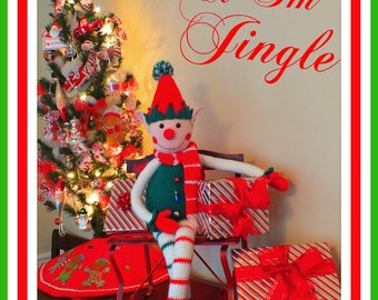 Jingle the Christmas Elf Crochet Doll Pattern©