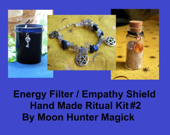 Energy Filter / Empathy Shield© Ritual Combo Kit#2 Chakra Aura Shielding Ritual Kit