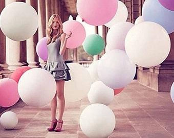 "36"" Pastel Pink Balloons HUGE Latex Balloons Pink Round Giant Balloon | Light Pink Balloons"