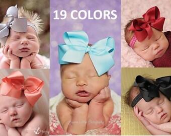 Large Bow Headbands, Hair Clips, Baby Headband, Newborn Bow Headband, Large Infant Headbands, Bow Headbands for Babies, Bows, Headbands Sets
