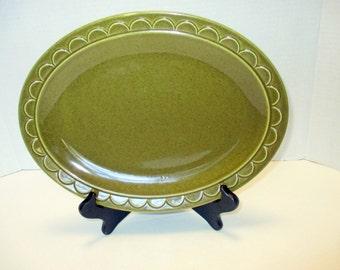 Homer Laughlin Sheffield Granada Green - Medium Oval Platter