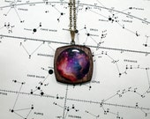Star Cluster Wooden Necklace