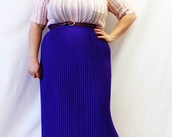 Plus Size - Vintage Multicolor Stripe Polo Shirt (Size L 14/16)