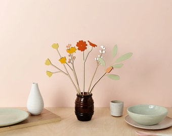 Wooden flowers - plywood flowers - Meadow Flower Bouquet - Christmas Table Display