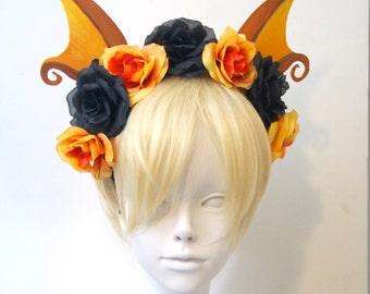 Raichu Ears with Flower Crown/ Pokemon Cosplay Costume / Gijinka