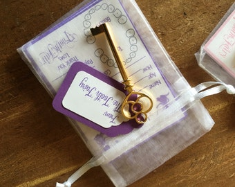 Lavender set of Tiny Receipts from the Tooth Fairy