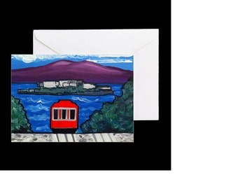 San Francisco Cable Car #2 - 4 Greeting Cards By Artist A.V.Apostle