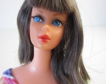 Dramatic New Living Barbie-1116-Brunette-Stamped 1968-1970