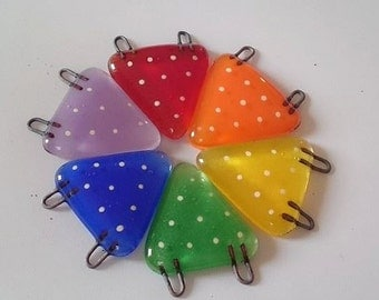 Fused Glass Mini Spotty Bunting