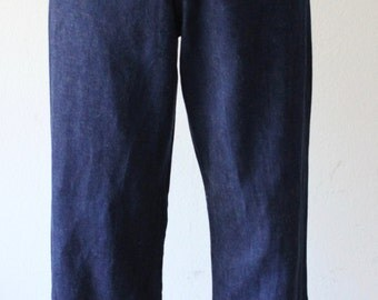 Vintage 19750s Super Stylish High Waist Denim Jeans Pants
