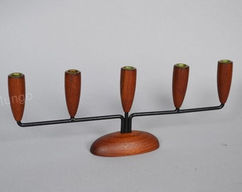 Luthje design Danish Mid Century Candle holder with 5 arms
