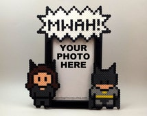 Catwoman and Batman Picture Frame - Couples Picture Frame - Batman Wedding - Anniversary Gift - Nerdy Valentines Day Gift - The Original