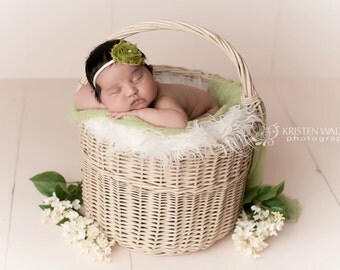 FREE SHIPPING! Olive Green Headbands, Olive Green Baby Headband, Baby Headbands, Newborn Headbands, Headbands Olive Green