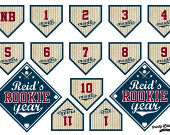 Printable Vintage Baseball Rookie Year/First Year Banner