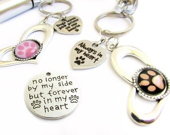 Pet Ashes Keychain, Urn Keychain, Ashes Carrier, Pet Loss Keychain, Paw Keychain, Pet Loss Gift, Heart Keychain, Car Accessories