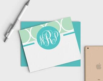 Custom Monogram Stationery - Monogrammed Notecards - Personal Stationery - Bridesmaid