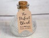 Le parfait mélange - petite taille - Etiquettes mariage - naissance - baptême - baptême - Custom Etiquettes - 36 pièces - 2 x 1.1 pouces