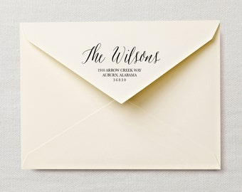 Calligraphy Return Address Labels - Printable