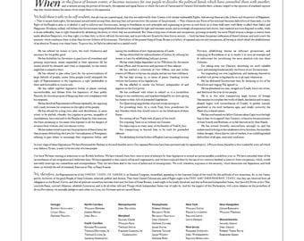 The Declaration of Independence: An 18- by 24-inch (46 × 61 cm) digital download