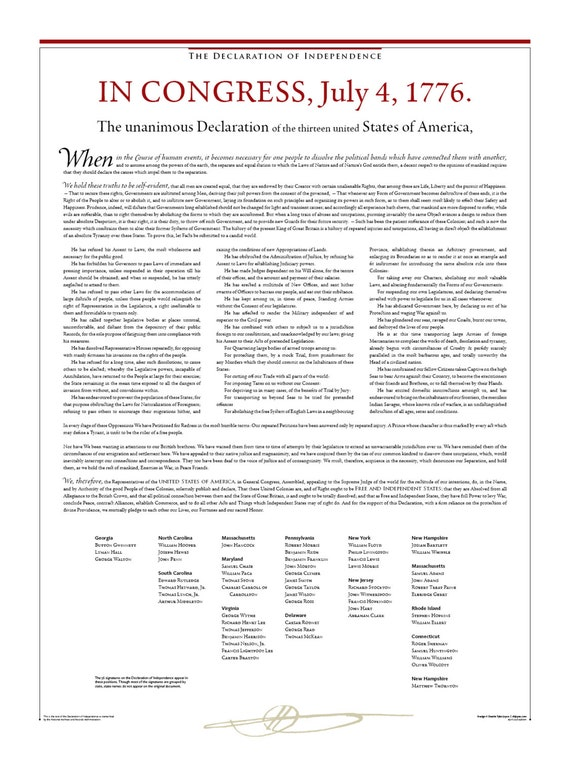 Wild image within printable declaration of independence pdf