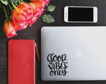 Good Vibes Only - Good Vibes Decal - Laptop Decal - Macbook Decal - Laptop Sticker - Car Decal - Trackpad Decal - Trackpad - Car Sticker