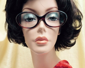 Vintage 1980s Brown Tortoise Shell  Milappi Eyeglass Frames Made  in France