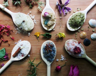 dead sea bath salts / select scents with essential oils & botanicals / healing, sensual - your choice