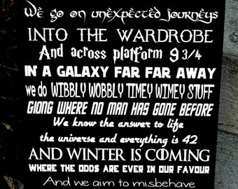 We do geek sign, Harry Potter, In This House We Do Geek, Geek Wood Sign, Home Decor, Lord of the Rings, Star Wars, Star Trek