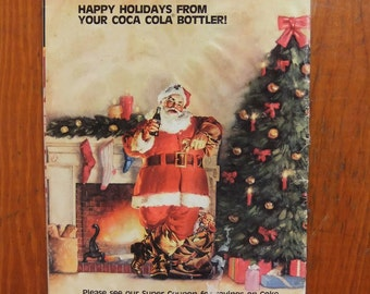 Sale! Vintage 1986 Holiday Cookbook Magazine Angelo's Supermarkets Vintage Food Ads Paper Ephemera Recipes and Coupons