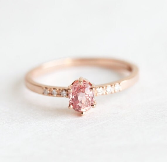 Rose Gold Sapphire Engagement Ring Simple Engagement by ...