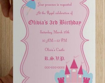 Royal Princess Birthday Invitation - Print Your Own - Digital File