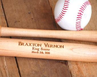Personalized Baseball Bat, Custom Baseball Bat, Engraved Baseball Bat, Ring Bearer Gift, Junior Groomsman Gift, Best Man Gift, Usher Gift