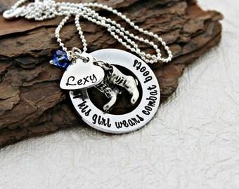 Marine Necklace - Army Necklace - Navy Necklace - Airforce Necklace - Military Jewelry - Military Necklace - Marine - Army - Navy - Coastie