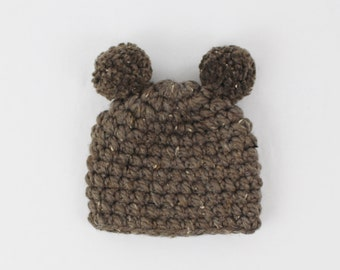 Kids Chunky Knit Hat with Ears Toddler Hat Baby Hat Bear | THE Little CAMDEN