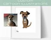 Custom pet illustration Pet portrait Pet caricature Animal drawing Cartoonize my pet Custom pet drawing Draw my pet Pet picture