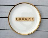 Wandteller Pommes Vintage 19 cm Dekoteller Herr Fuchs