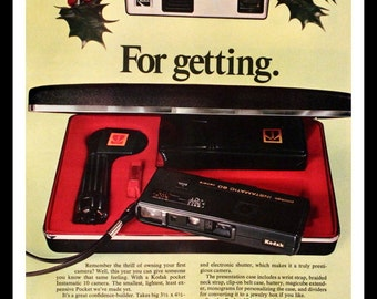 1974 Kodak 35mm Camera Ad - Instamatic 10 - Instamatic 60 Deluxe - Gift - Wall Art - Home Decor - Retro Vintage Electronics Advertising
