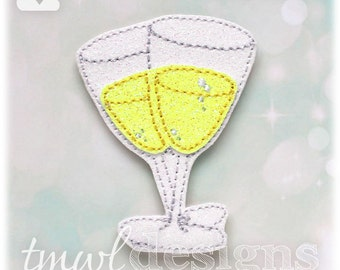 Champagne Glasses OS Feltie Digital Design File