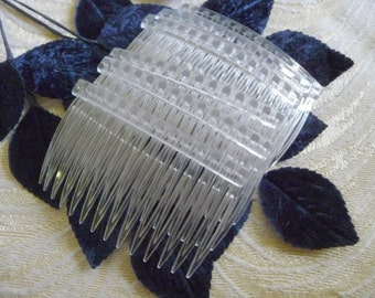 Six Clear Plastic Combs for DIY Millinery Fascinators Hats Veils Hair Accessories