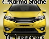 """24"""" Car Mustache Vinyl Decal Sticker - Style; Lumberjack - Color; Black  -  Karma Stache: Your #1 Source for Car Mustaches!"""
