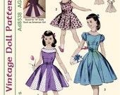 "KRVP-Ad8538DD, 18"" American Girl, Vintage 1950's Dress PATTERN, Digital Download"
